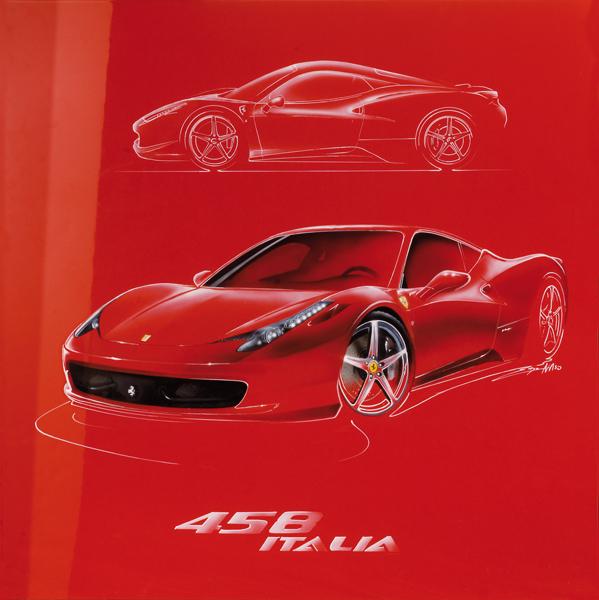 458 Italia (2009) - 100x100 cm - Vermeulen Belgium