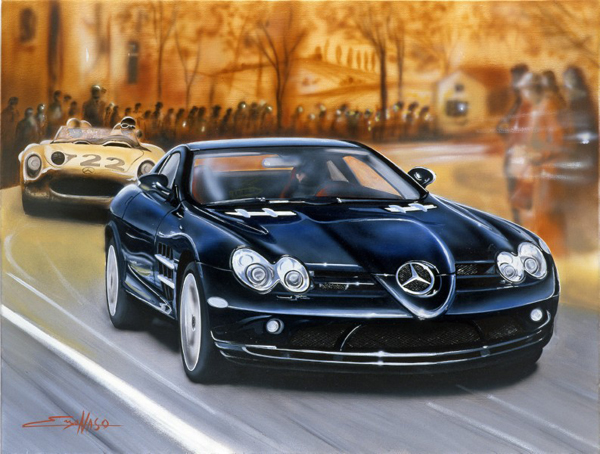 Mercedes SLR (2007) - 100x70cm - Private collection Italy