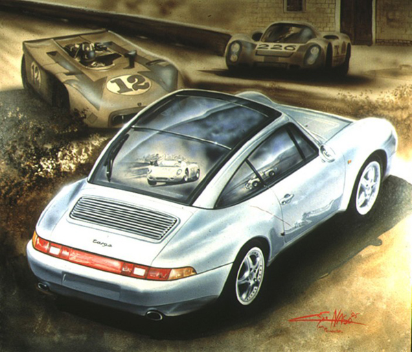 Porsche Targa (1990) - 90x90cm - Porsche Italia collection