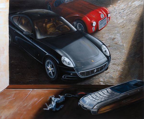 Ferrari 612 Vertu (2007) - 100x120cm - Ferrari cellular phone Ltd 60th