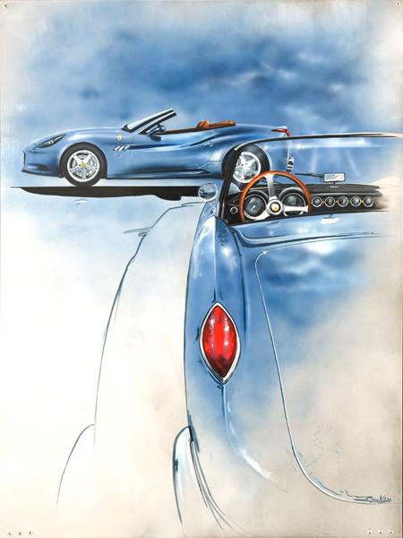 Ferrari California (2009) - 100x70cm - Author's collection