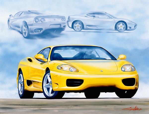 Ferrari 360 Modena (2002) - 50x70cm - Ferrari Owners'site