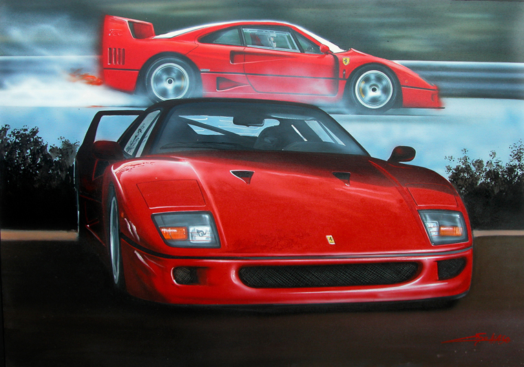 F40 (2005) - 100x70cm - Author's collection