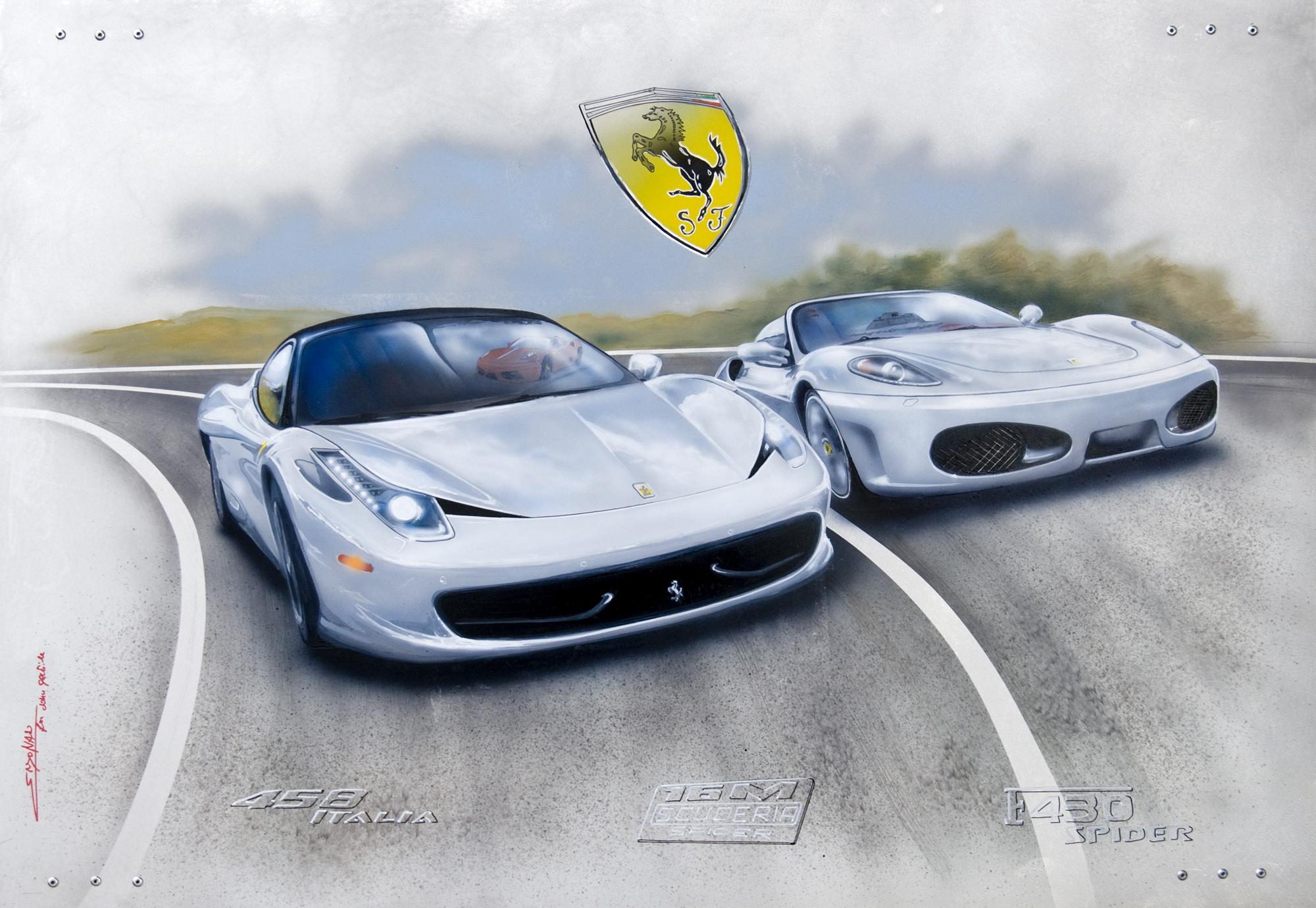 White Ferraris