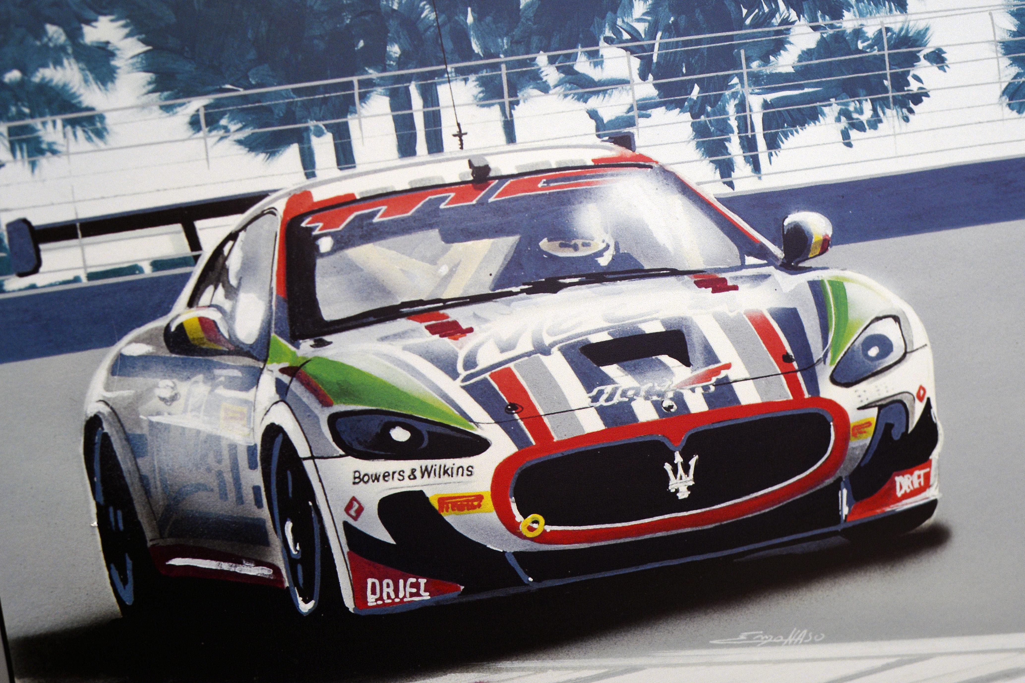Litografie Maserati - Renaud Kuppens