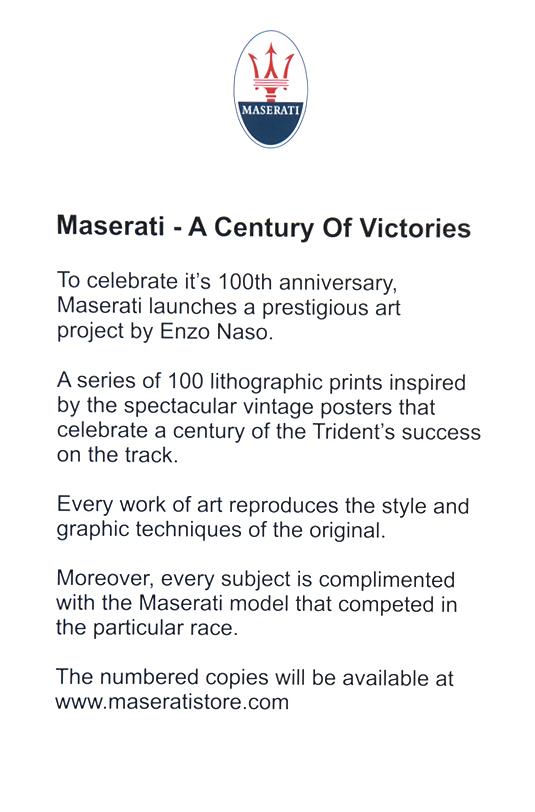Litografie Maserati