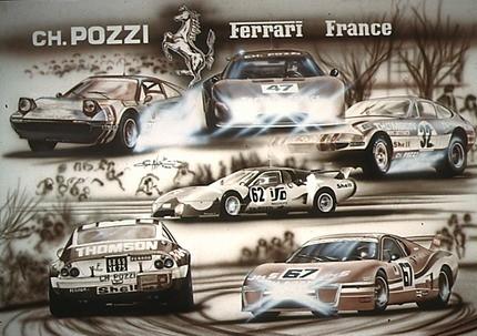 Poster Ferrari France 1989