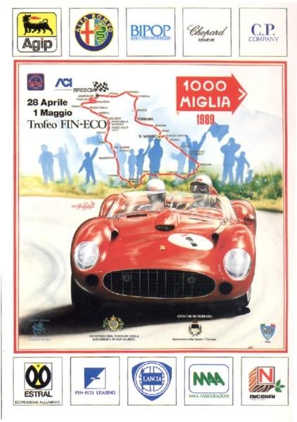 Poster Mille Miglia 1989