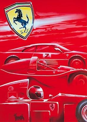 Poster Ferrari - Mugello