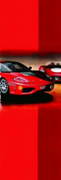 Poster Ferrari races - 2001
