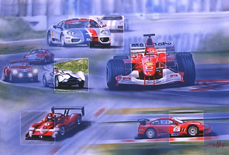 Poster Calendario gare Ferrari - 2002