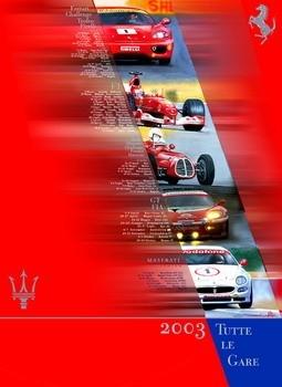 Poster Calendario gare Ferrari - 2003