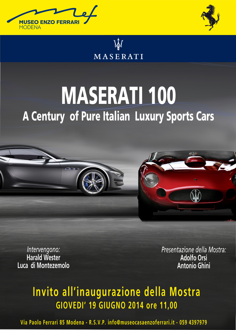 A century of Pure Italian Luxury Sports Cars