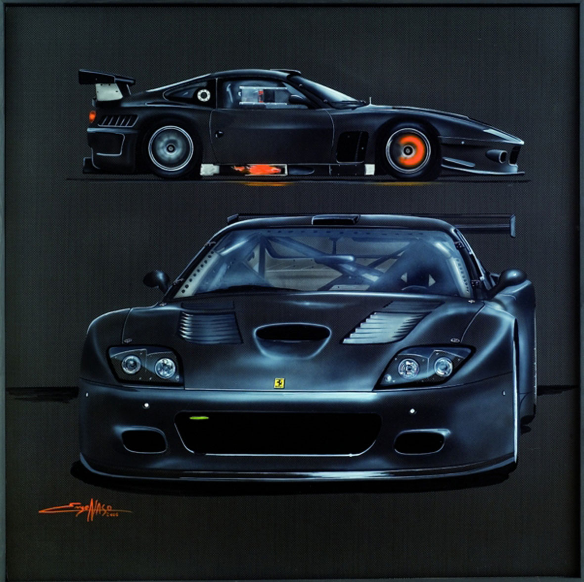 575GTC JMB - 2006 - 100x100 - private collection