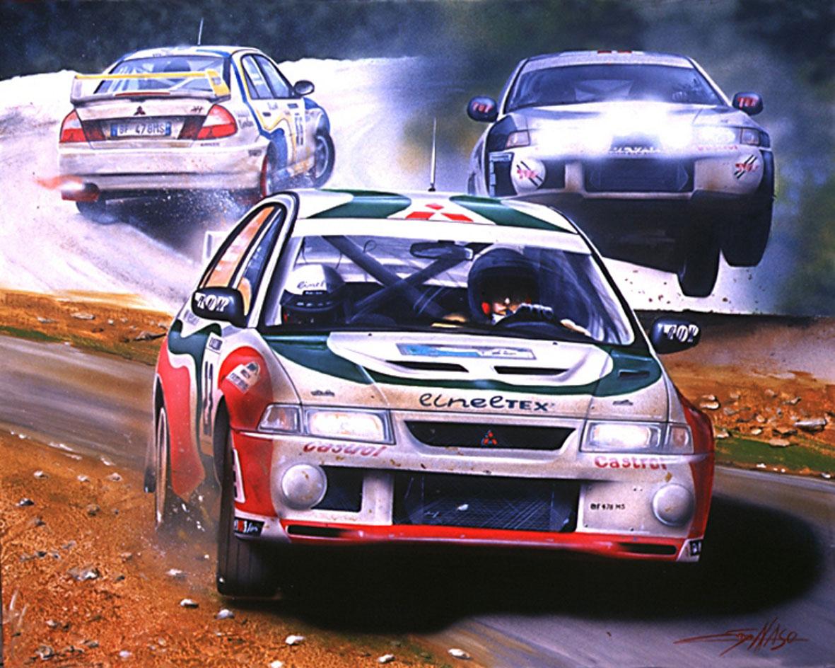 Mitsubishi evo WRC - 2008 - 70x100cm