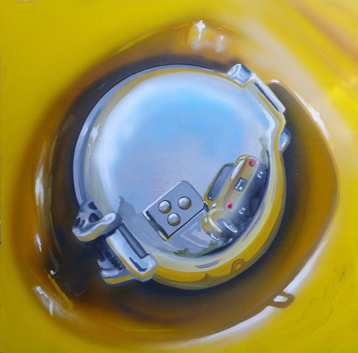 Fluel cap - 2012 - 30x30cm - Artist's collection.