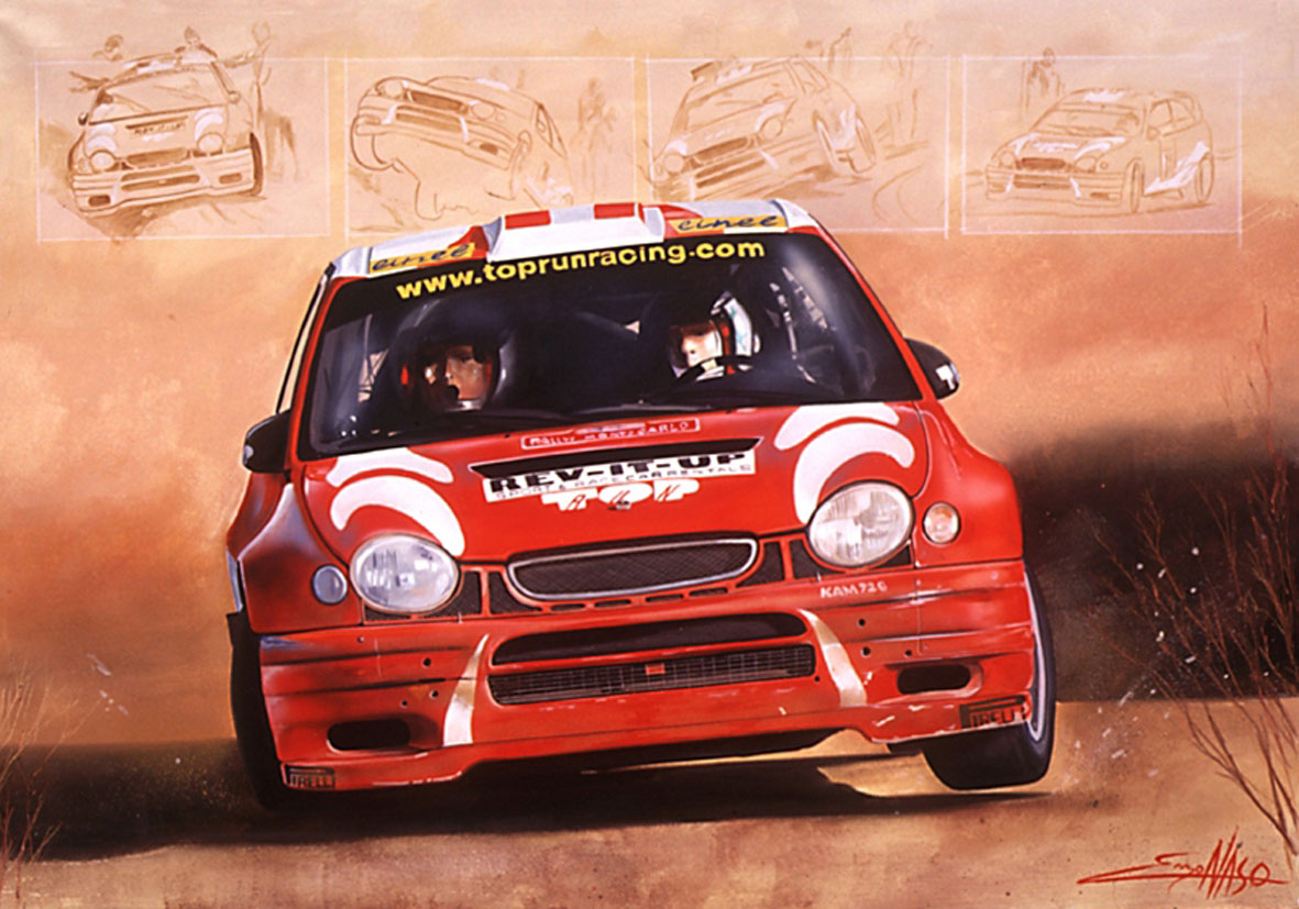 Toyota Wrc - 2003 - 100x70cm - Private collection