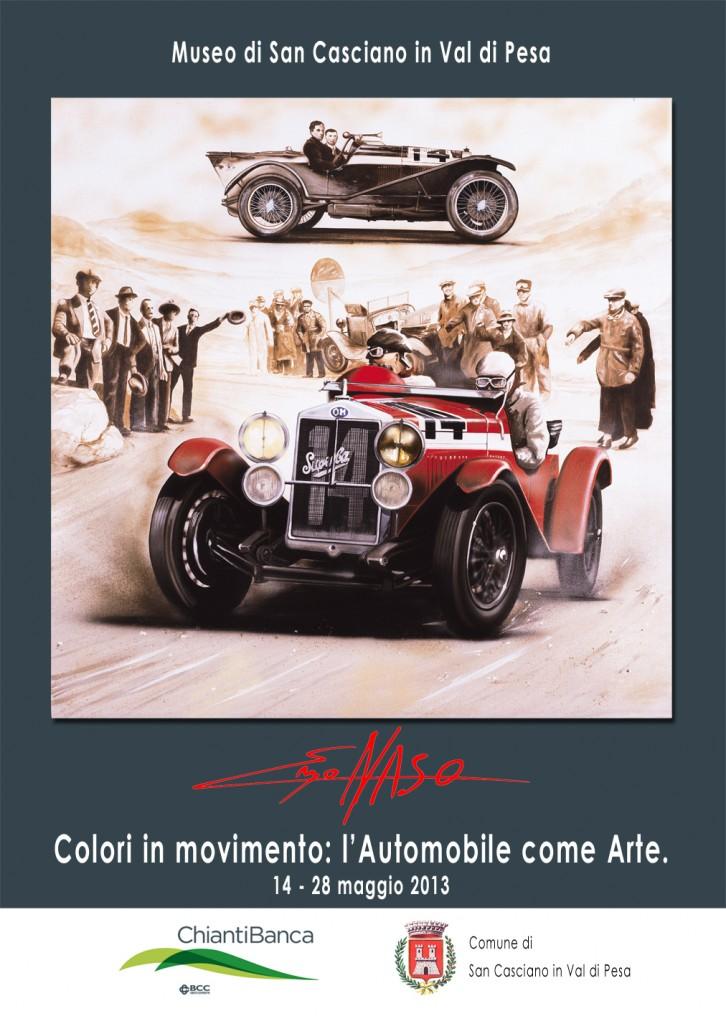 """Mostra personale di Enzo Naso al Museo di San Casciano val di Pesa dal titolo """"Colori in movimento: l'Automobile come Arte""""."""